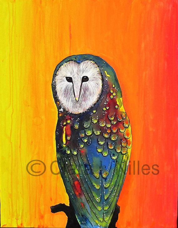 'Glowing Owl on Sunset' by Clara Nilles