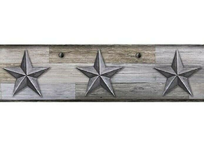 Primitive Gray Barn Stars Wallpaper Border Country Rustic