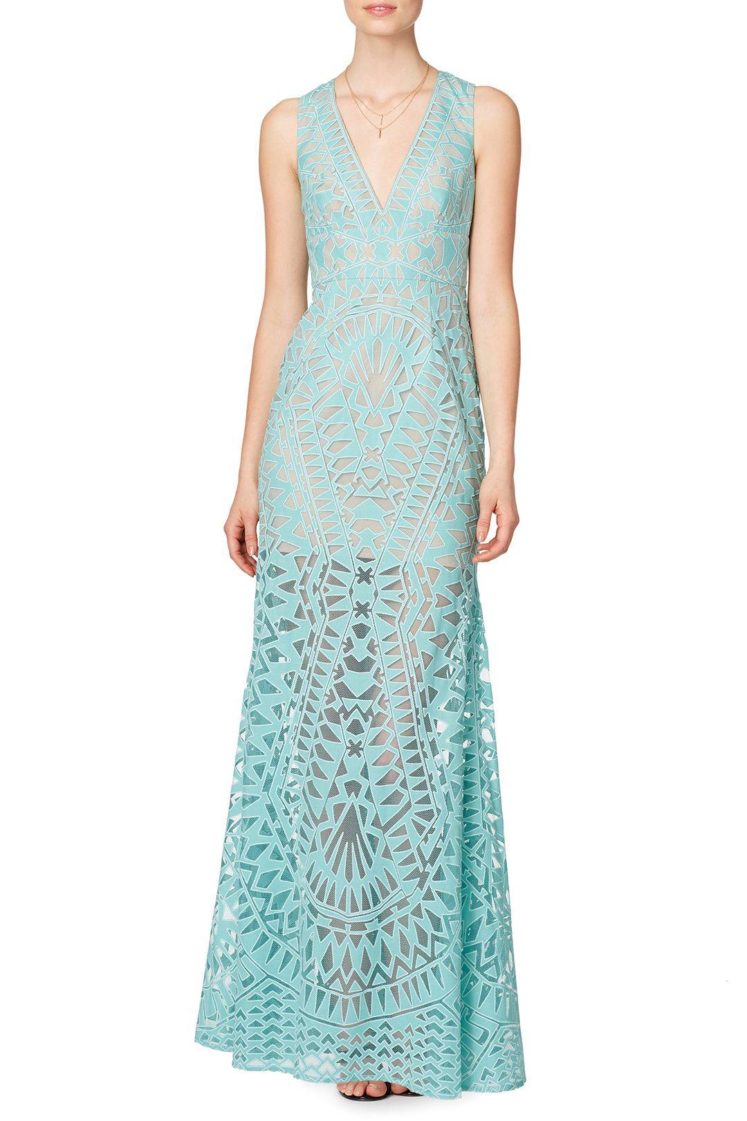 Aqua chakra gown shops uxui designer and the oujays