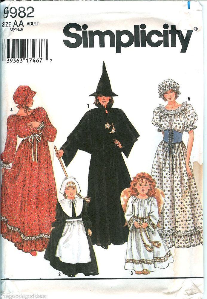 Great costumes to make for Purim! Simplicity 9982 Puritan Pilgrim ...