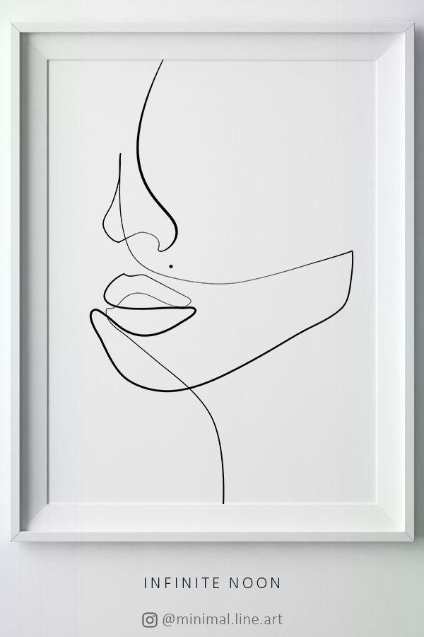 Increíble que aún no ha dado a luz una figura geométrica de la cara del dibujo lineal, …