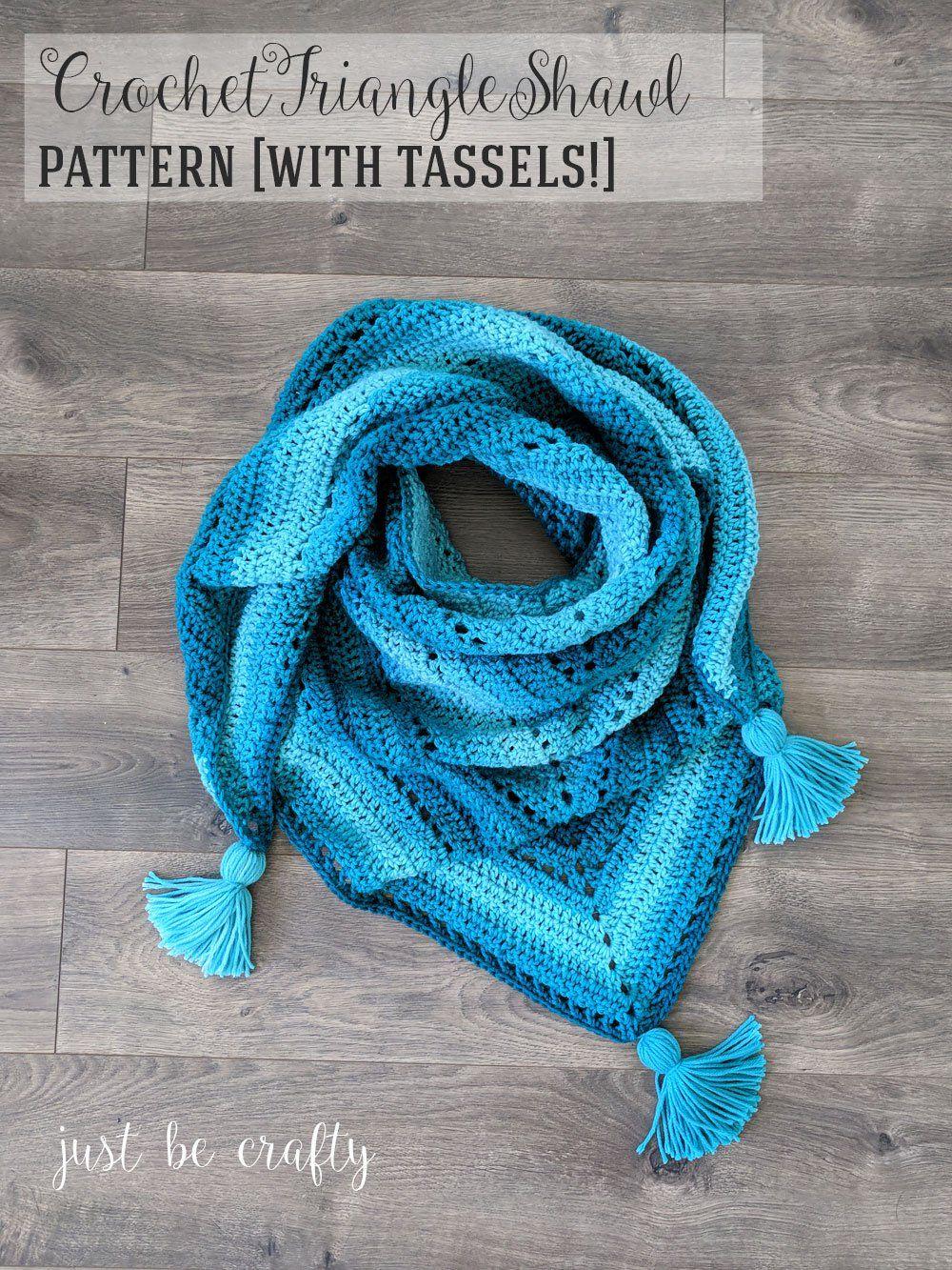 Crochet Triangle Shawl Pattern - Free Crochet Pattern by   Pinterest ...
