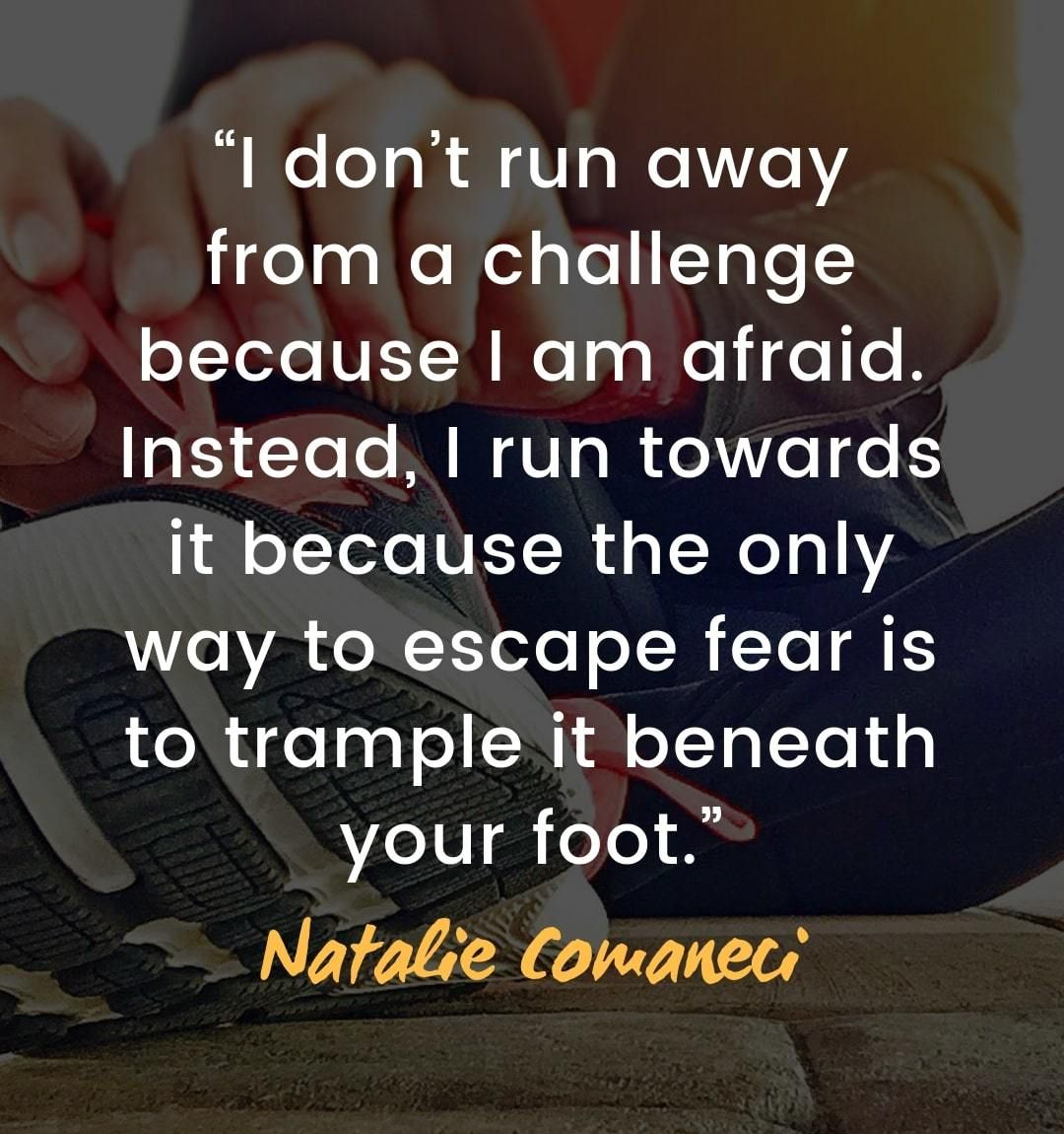 Quotes About Facing Challenges I Don T Run Away From A Challenge Because I Am Afraid Instead I Run Towa Overcoming Quotes Adversity Quotes Obstacle Quotes