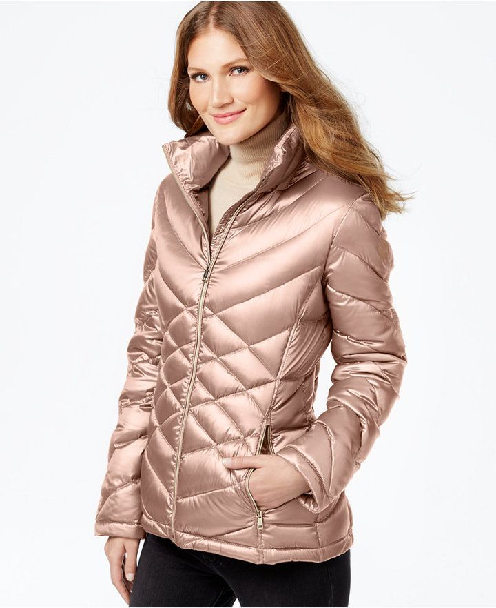 94370f3c6b Calvin Klein Quilted Packable Down Puffer Coat  pink  metallic  quilted   puffer  coat  fashion