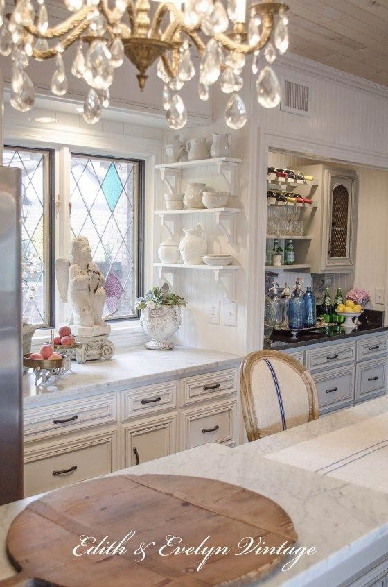 Country French Kitchen Renovation Edith  Evelyn Vintage www