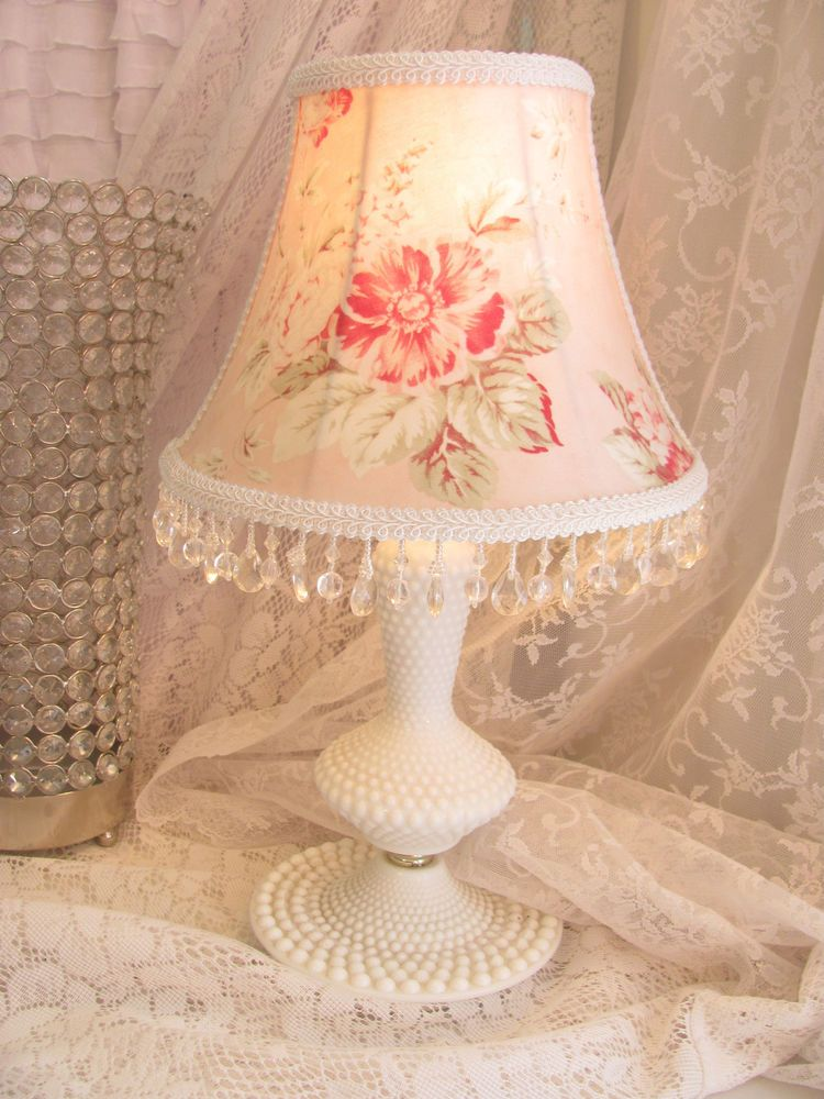 Vintage Hobnail Lamp Lampshade 129 00 Shabby Chic Decor