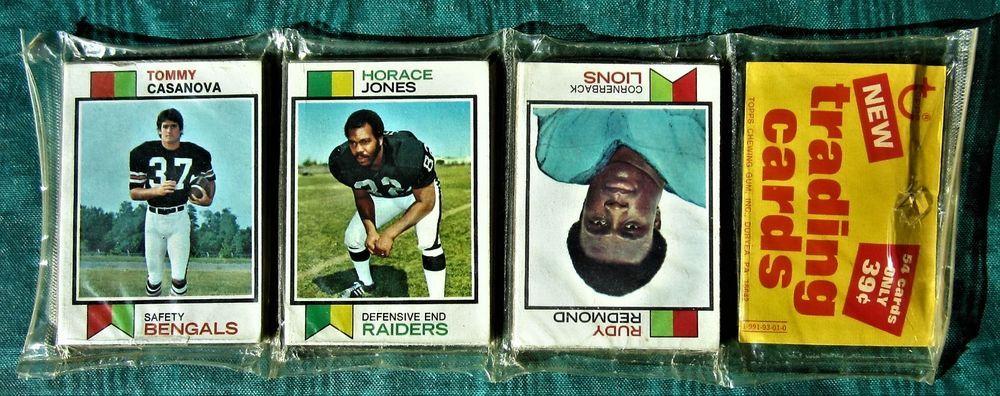 1973 topps football rack pack unopened rookie stabler