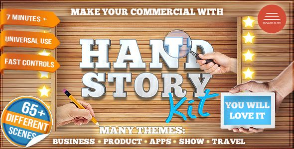 Hand Story Kit Professional Explainer Builder Cool Product And - After effects commercial template free