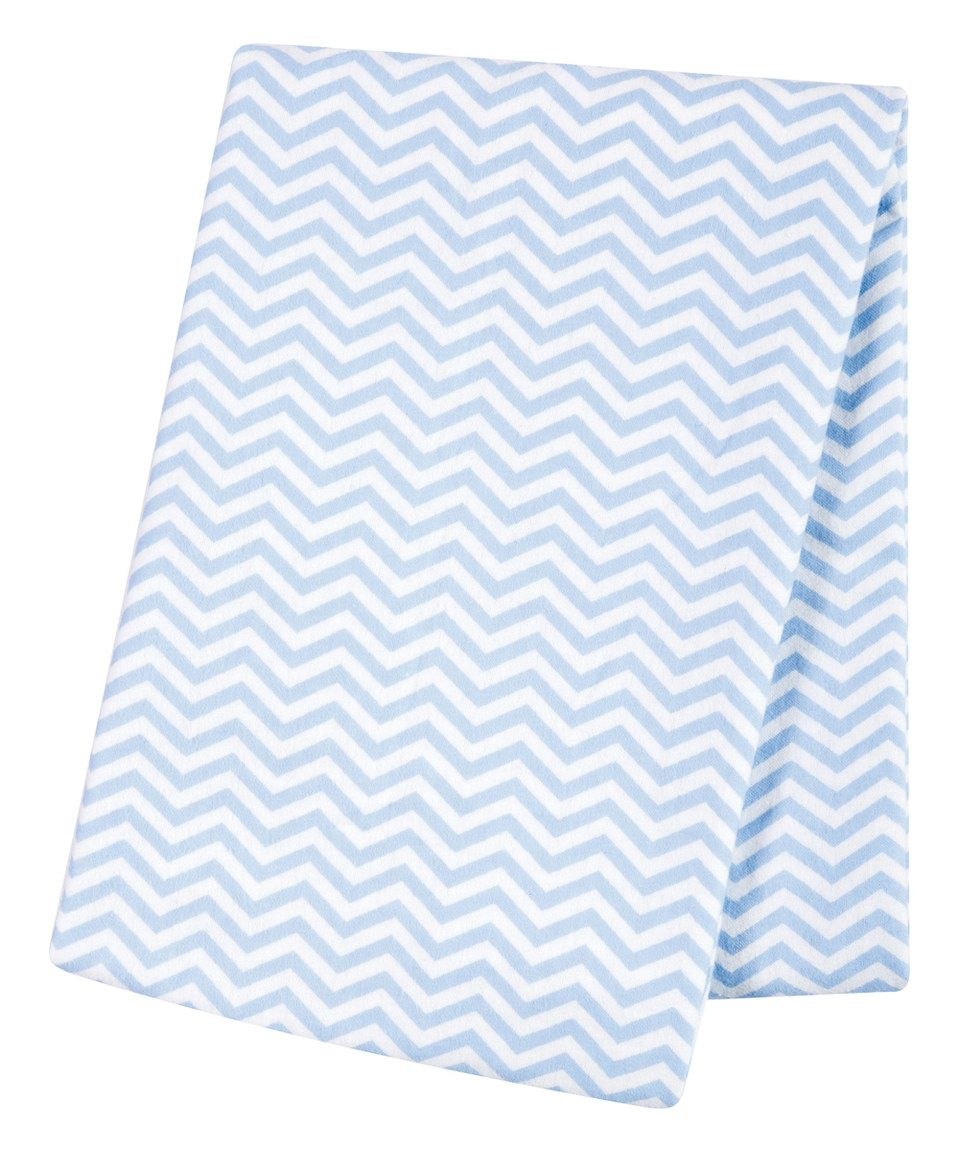 Loving this Blue Chevron Deluxe Flannel Swaddle Blanket on #zulily! #zulilyfinds