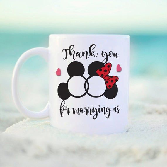 Thank You For Wedding Gift: Thank You For Marrying Us Mug, Disney Inspired Mug