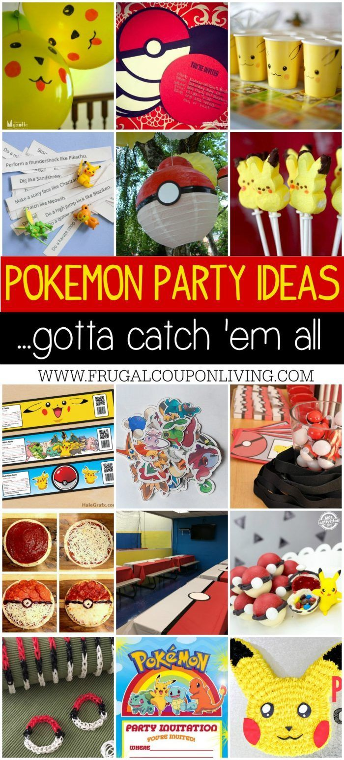 Are you a fan of Pokemon Go? Take a look at these Pokemon Party Ideas for the biggest fan in your home on Frugal Coupon Living. Boy party ideas.