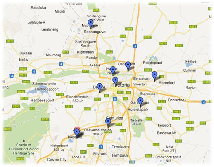 Gauteng Site Maps Gauteng Sites Pinterest Site map Tourism