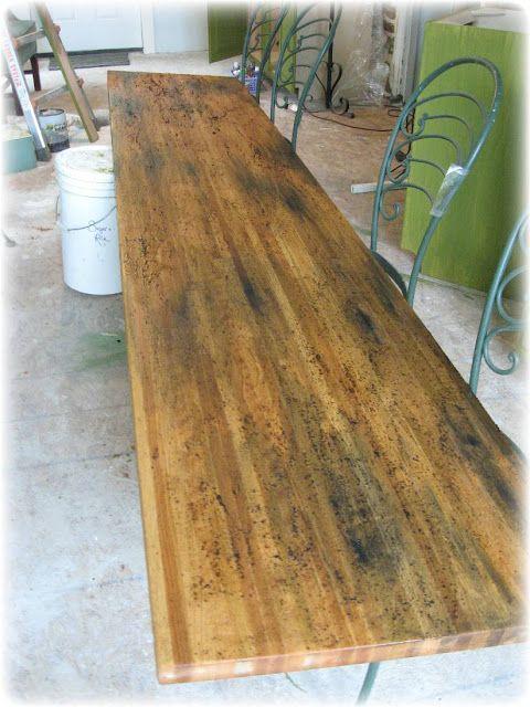 Pumpkin Pie Painter My Coffee Stained Chain Beaten Wooden Counter Top Wooden Counter Countertops Wooden Countertops
