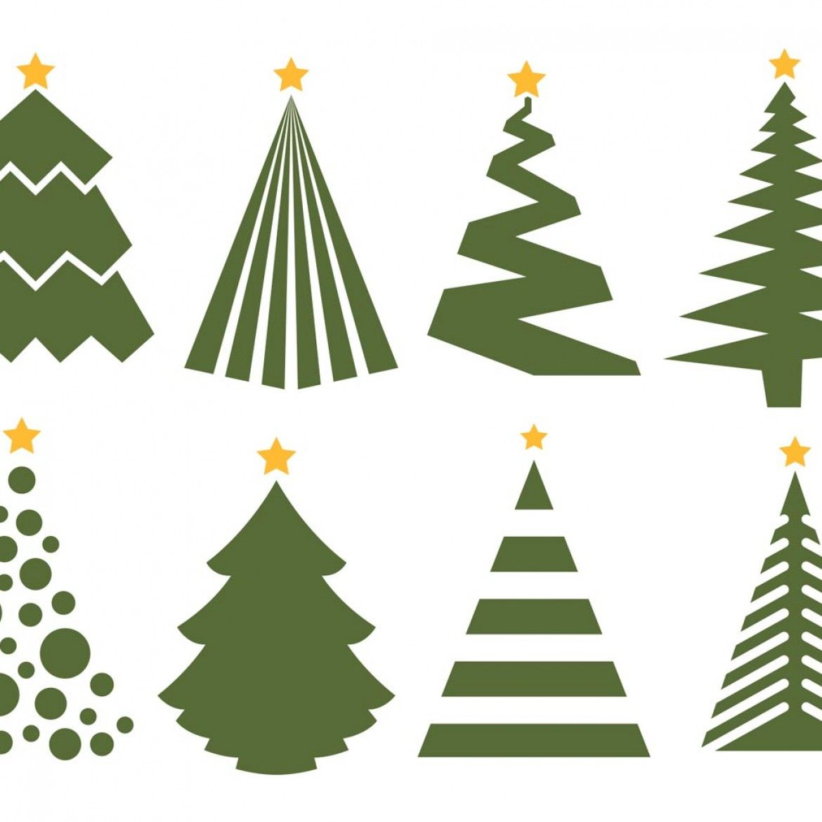 Christmas Tree Vector Designs Free Vector Christmas Tree Set On