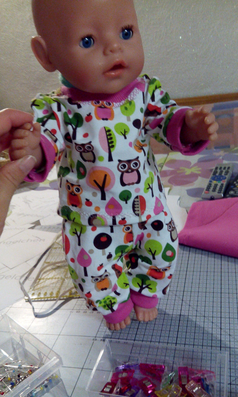 Anziehsachen für Baby Born aus Jersey als Geschenk #dollscouture