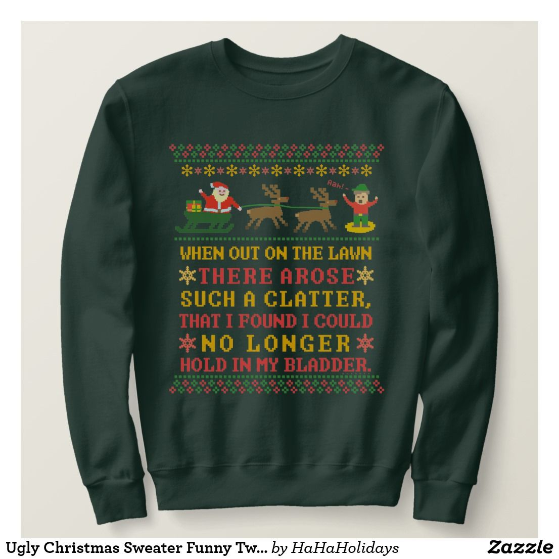 Ugly Christmas Sweater Funny Twas The Night Before Ugly Christmas