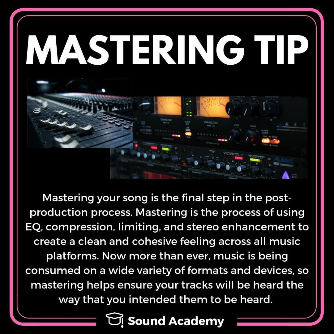 Do you have a track you want mastered? Let our engineers