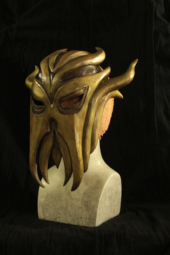 Inspired By The Mask Worn By The First Dragonborn Miraak From The Final Dlc For Elder Scrolls V Skyrim Its Even La Dragon Priest Masks Dragon Priest Skyrim