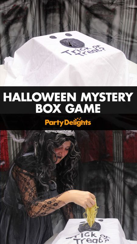 Halloween Mystery Box Game Halloween party games, Game ideas and