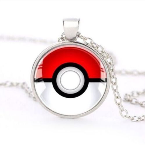 POKEMON Necklace Glass Dome Pendant Pokeball Necklace Jewelry Anime #Unbranded #Pendant