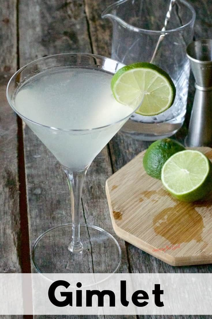 The Gimlet is a classic cocktail with gin, lime juice and simple syrup or Rose's... - !!Party Foods and Drinks!! -