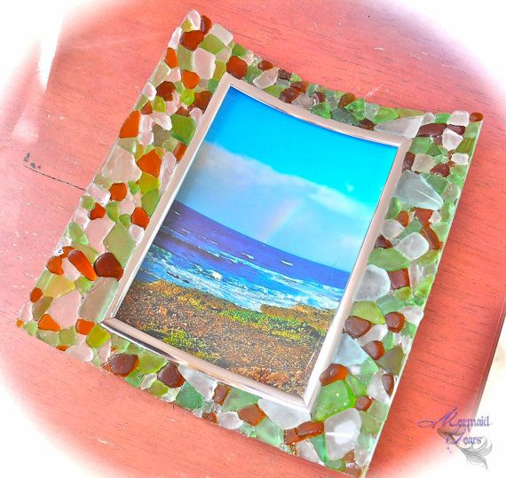 Sea Glass Picture Frame From Hawaii By The Sea 3 Pinterest
