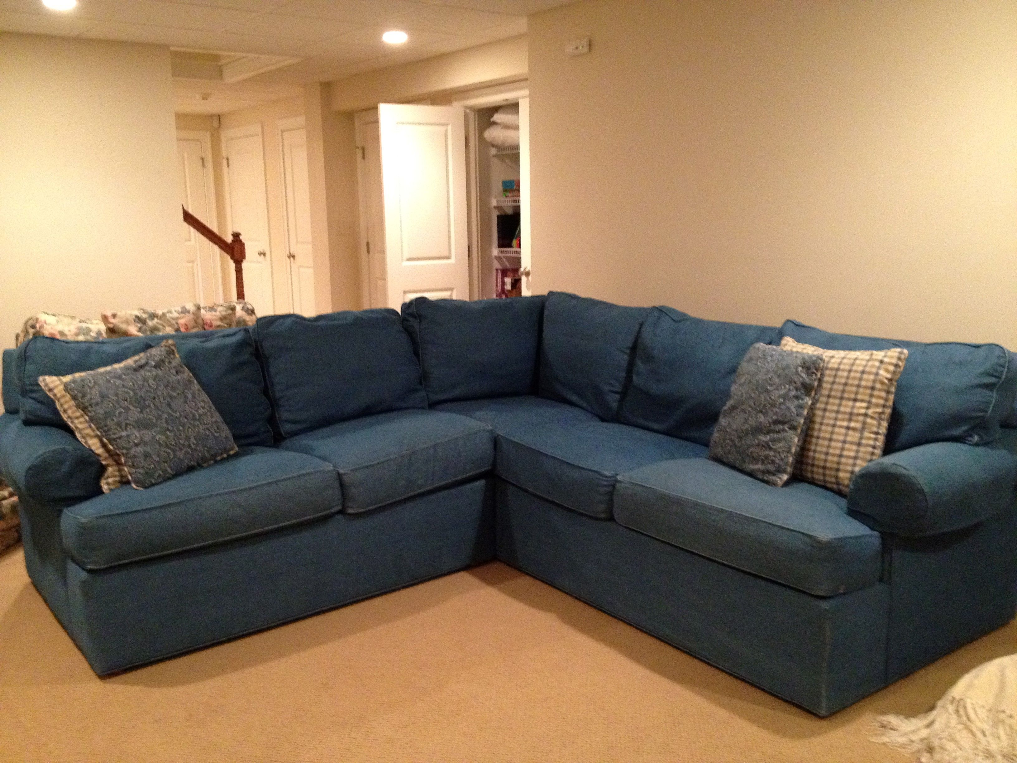 Ikea Sectionals Denim Sectional Sofa 3 Piece Sectional