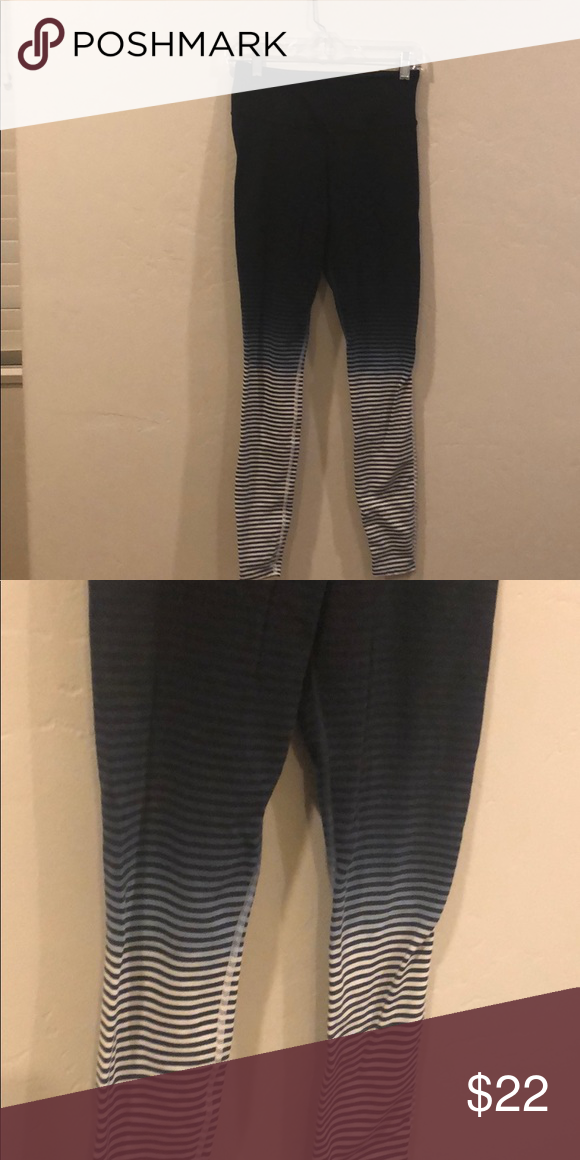 bdedf68cc1d197 Nike Ombré Striped Full Length Leggings Cool Ombré Black to grey to white  with Black stripes. Cotton,nylon Blend. Soft good quality material that  won't be ...
