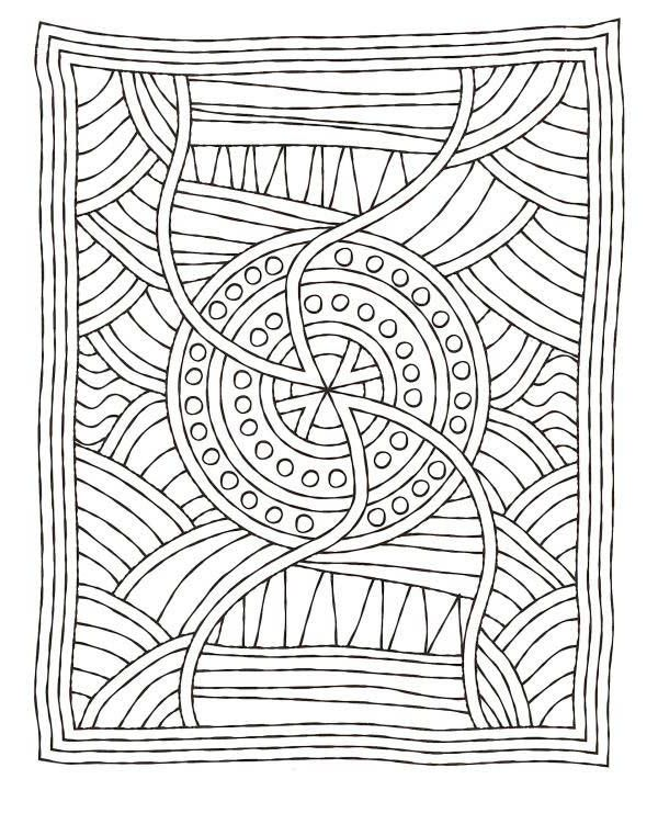 Mosaic Matress Coloring Page