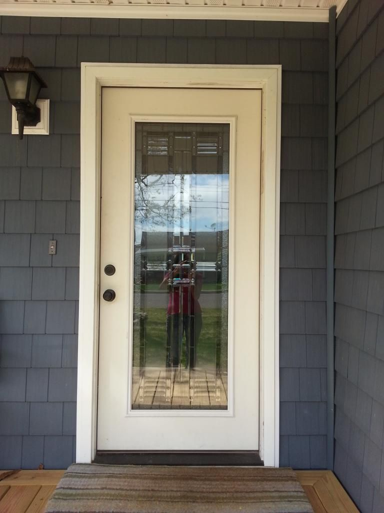 Wood front door with glass - Striking Front Door Colors For Grey House In Creative Design White Wood Frame Glass Front