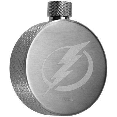 Tampa Bay Lightning 4.5oz. Hockey Puck Flask - Silver