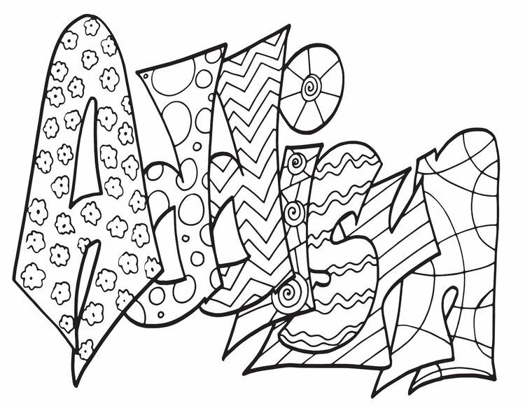 ADDISYN Free Printable Name Coloring Pages from Stevie
