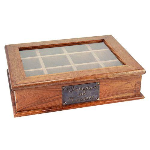 simple bote tisanes en bois x cm maisons du monde with boite a the maison du monde. Black Bedroom Furniture Sets. Home Design Ideas