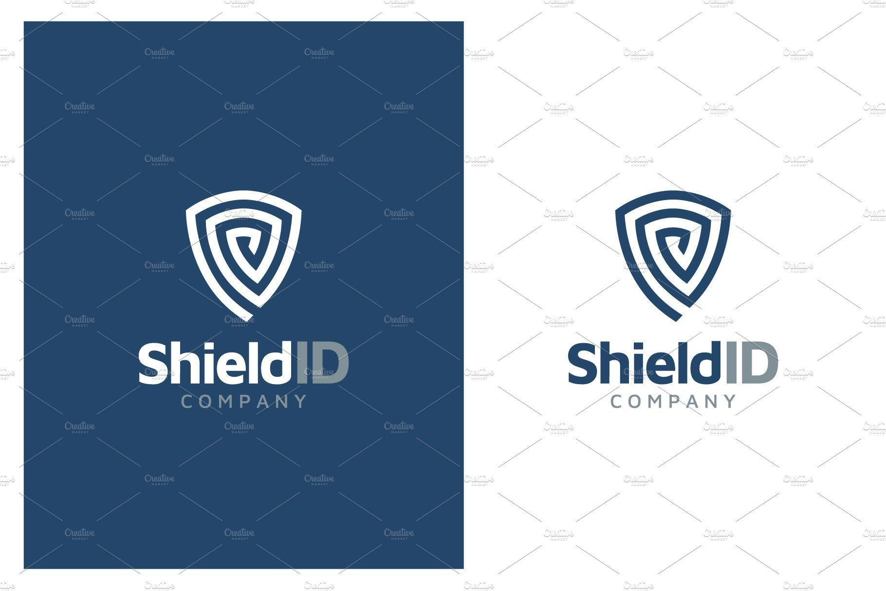 Fingerprint Shield Protection Logo Protection Logo Marketing