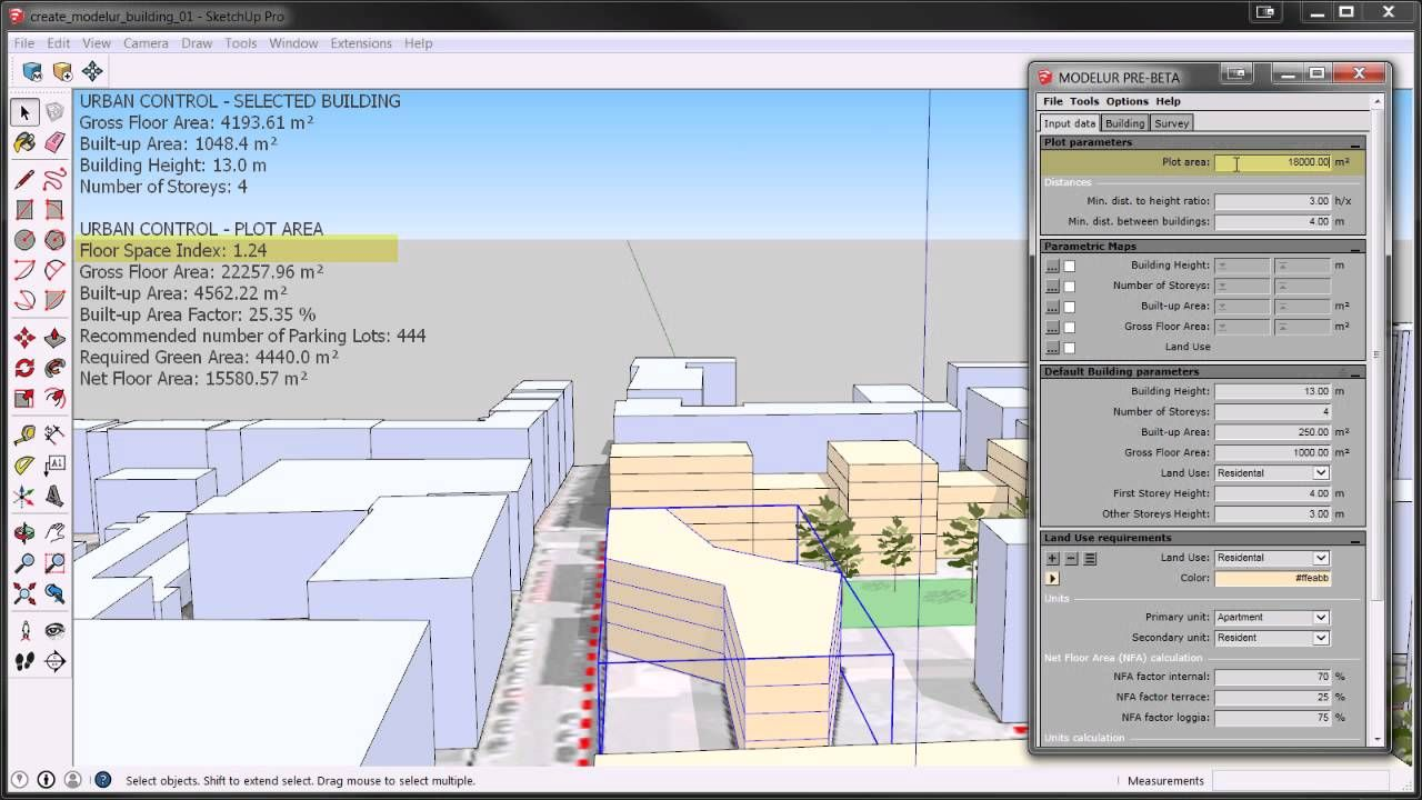 Introduction To Modelur A Sketchup Extension For Urban Design