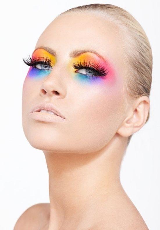 augenschminke regenbogen farbenfroh party ideen makeup sch ne dinge pinterest. Black Bedroom Furniture Sets. Home Design Ideas