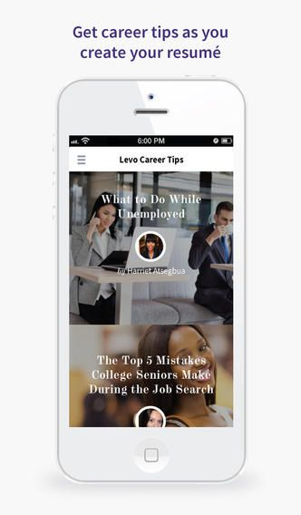 Get #ResumeReady with the Levo Resume App Women in Tech \ Stem - resume app