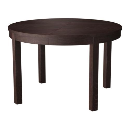 Table Ronde Ikea Avec Rallonge Bjursta Table à Rallonge - Brun-noir | Table De Cuisine