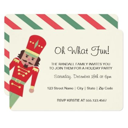 Personali Oh What Fun Toy Soldier Christmas Party Card