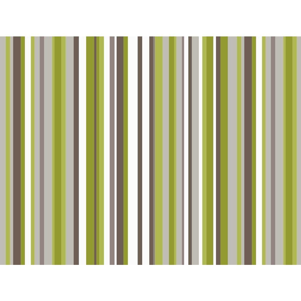 Arthouse Opera Sophia Stripe Textured Wallpaper Green 614803
