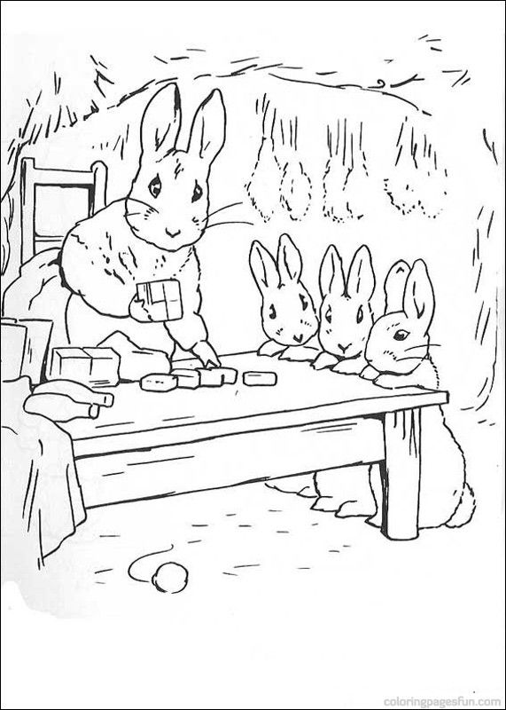 Peter Rabbit Coloring Pages 21