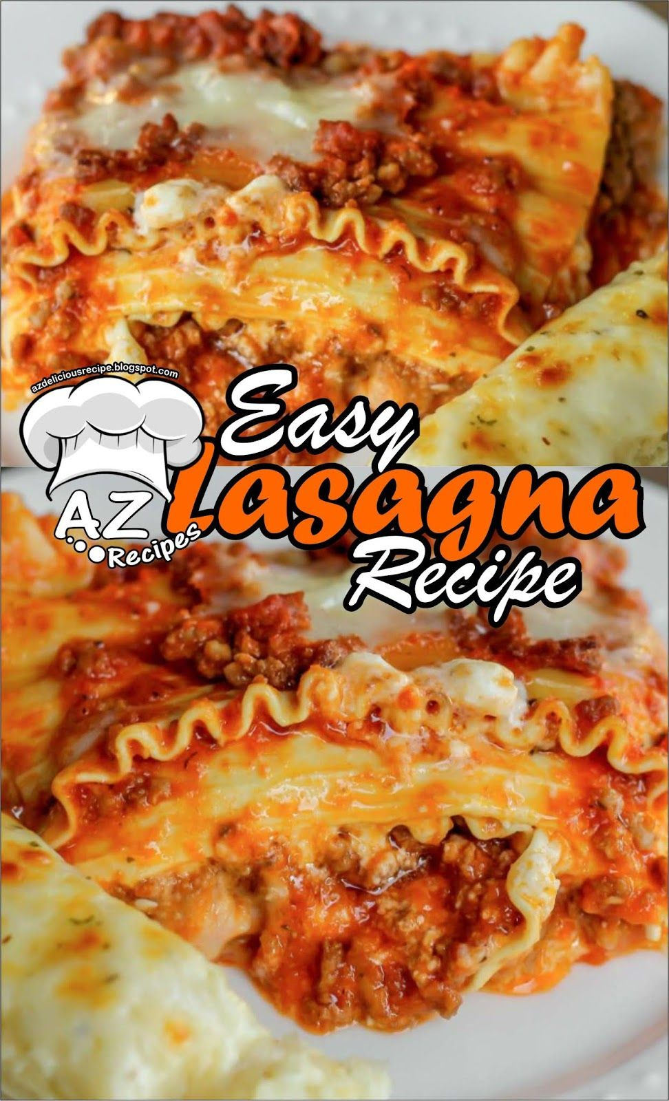 Easy Lasagna Recipe Resep Makanan Food In 2019 Easy