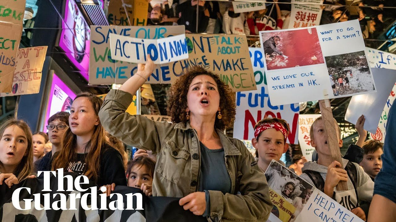 Students Around The World Go On Climate Strike Youtube School Climate Climates Student