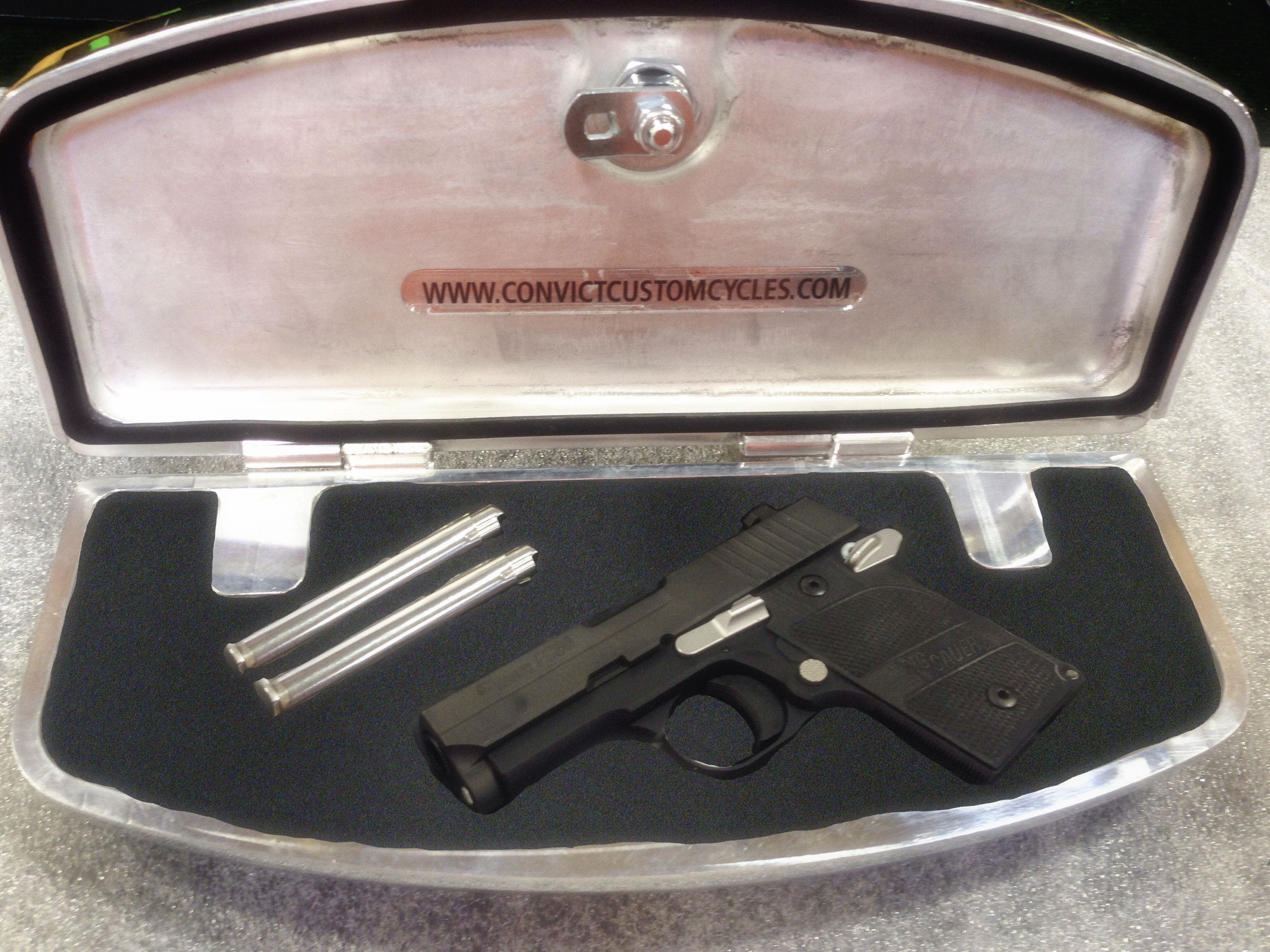 Convict Custom Cycles, Floor Board Gun Safe