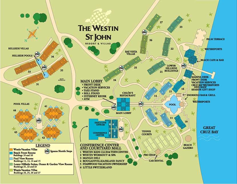 St John Map US Virgin Islands Map The Westin St John Resort - St john us virgin islands map