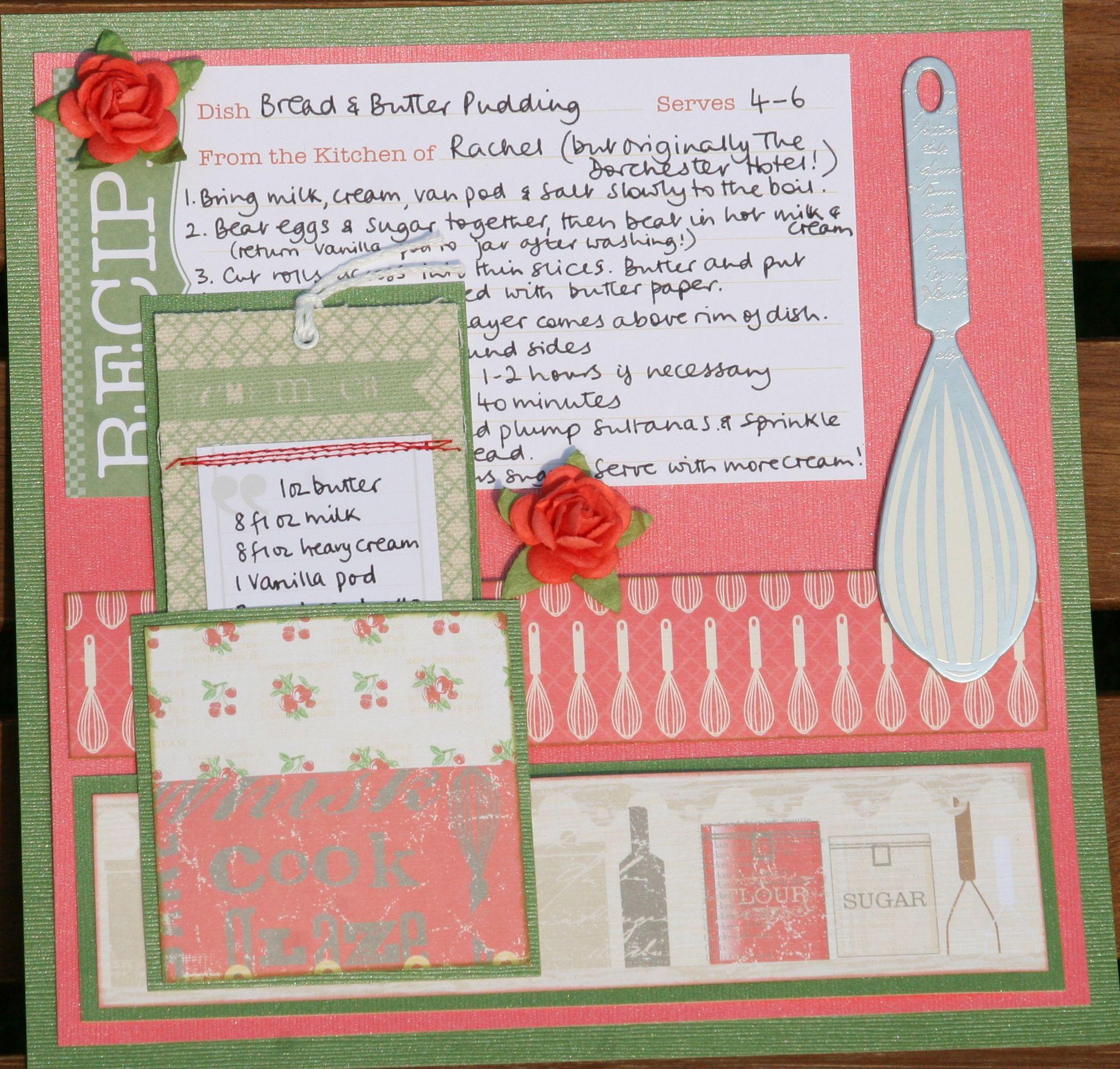 Bread & Butter pudding Scrapbook recipe
