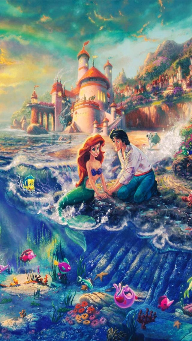 Little Mermaid Thomas kinkade disney, Kinkade disney