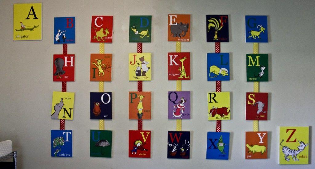 Mother Flock Nursery Diy Dr Seuss Alphabet Wall Art Tutorial Go To