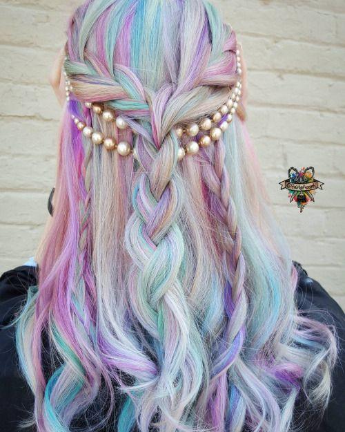 28 Rainbow Hair Colors Ideas Pastel Hair Pastels And Rainbows