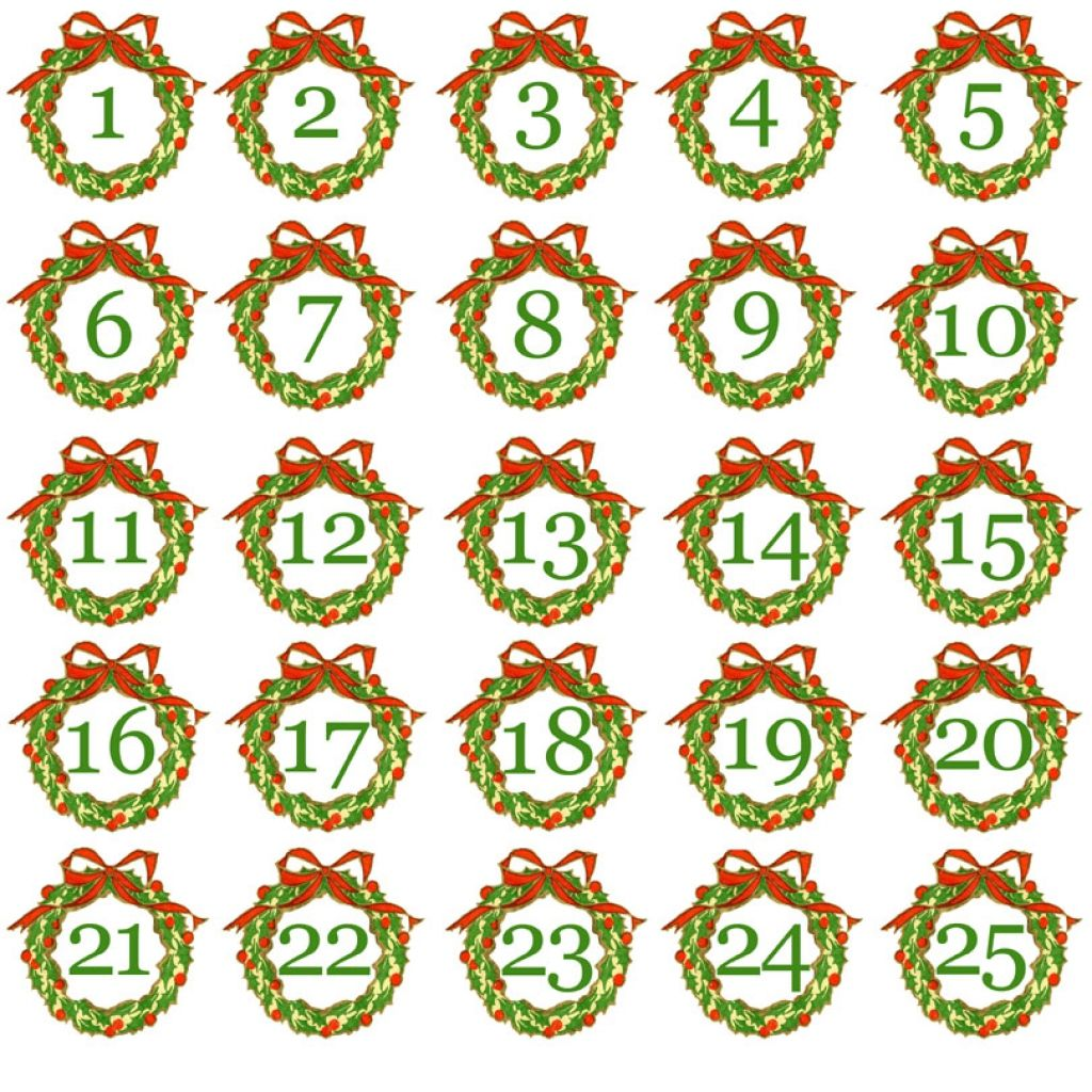 Image Result For Advent Calendar Numbers Printable